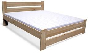 ENCOLE tömörfa ágy + DE LUX habmatrac 14 cm + ágyrács AJÁNDÉK, 120x200 cm, natúr