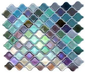 Felragasztható csempe - 3D mozaik - Színes könnyek 21,0 x 24,5 cm