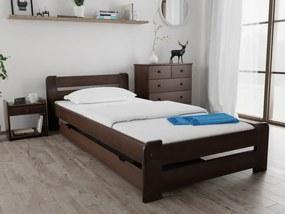 Laura ágy 80x200, diófa Ágyrács: Lamellás ágyráccsal, Matrac: Matrac nélkül