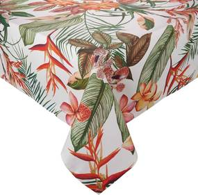 LOMBOK pamut asztalterítő, trópusi mintával 150x150 cm