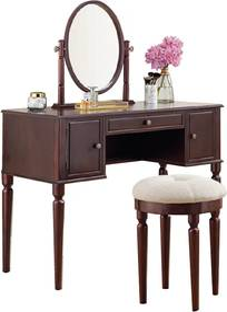 """Fésülködő asztal Charlotte """"Brown"""" Savoy"""