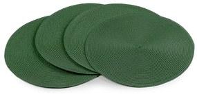 Deco kerek alátét, sötétzöld, 35 cm, 4 db-os készlet
