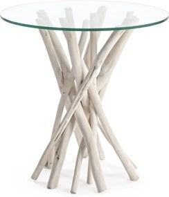 SAHEL lerakóasztal üveggel 40cm átmérő