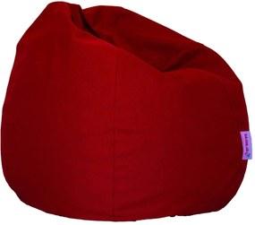 Basic Bútorszövet Babzsákfotel - Piros