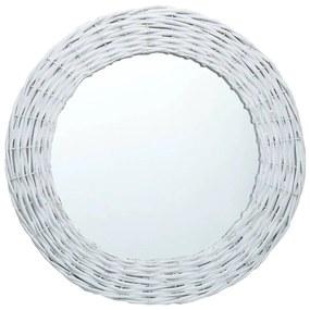 vidaXL fehér fonott vesszőkeretes tükör 80 cm