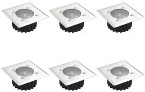 6 Kocka Napelemes Talaj Lámpa   kültéri lámpa
