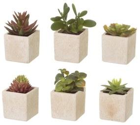 6 darab művirág kaspóban - Unimasa