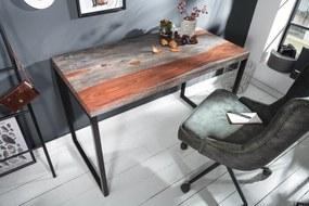 ELEMENTS barna rózsafa íróasztal 118x60x76