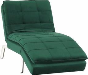 Fotel ágyfunkcióval, smaragd/króm, REMAN