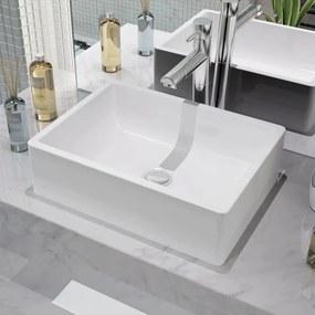 vidaXL Fehér kerámia mosdókagyló 41x30x12 cm