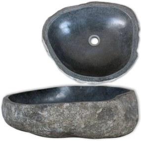 vidaXL ovális folyami kő mosdókagyló 38-45 cm