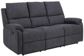 Luxus hármas fotel Nyx sötét szürke