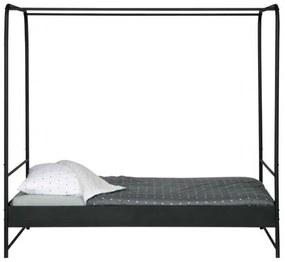 VTwonen - Bunk, fekete baldachinos ágy, 120 x 200