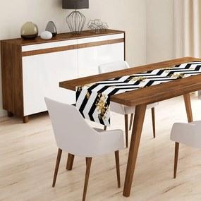 White Zigzag asztali futó, 45 x 140 cm - Minimalist Cushion Covers