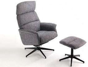 TRAVIATA kényelmi design fotel - szürke