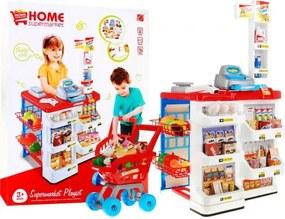 Inlea4Fun Stragan Supermarket bevásárló kocsival - Piros