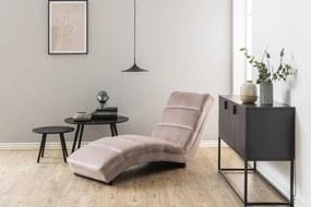 Luxus relax fotel Nana - világos rózsaszín