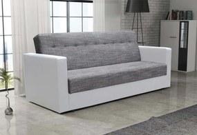MÁCA kanapé, 85x216x190 cm, Kornet 02/Dolaro 511 fehér