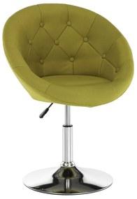 Forgó fotel, sárgászöld/króm, GULEN