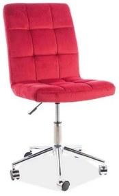 KEDE Q-020 VELVET gyerek szék, 45x87-97x40, bluvel 59, piros