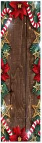 Christmas Frame karácsonyi asztali futó, 40 x 140 cm