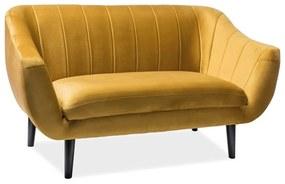 ESTER Velvet 2 kárpitozott kanapé, 153x83x85, bluvel 68