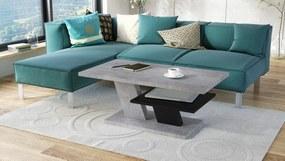 CLIFF MAT beton / fekete, dohányzóasztal