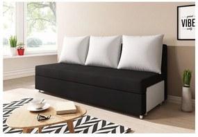 LISA kanapé, fekete/fehér (alova 04/PDP)