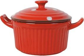 Red Garnek piros homokkő edény - Antic Line