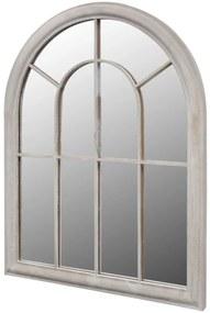 vidaXL rusztikus íves kerti tükör kültéri/beltéri használatra 69x89cm