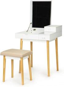ModernHome fésülködőasztal tükörrel és székkel, RH1908-02