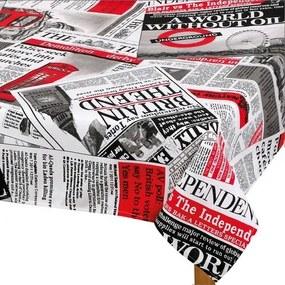 Ema Újság abrosz piros, 140 x 200 cm, 140 x 200 cm