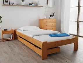 Magnat ADA ágy 90x200 cm, égerfa Ágyrács: Deszkás ágyráccsal, Matrac: Deluxe 15 cm matraccal