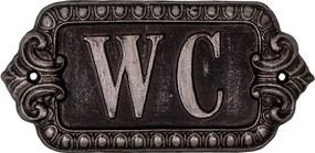 Plaque WC szimbólum, szélesség 17,5 cm - Antic Line