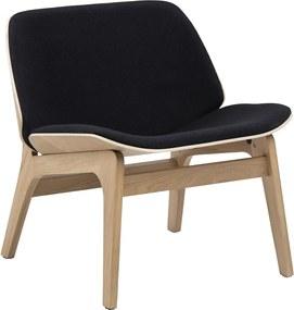Stílusos szék Allie - fekete / természetes