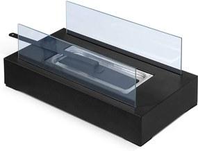 Asztali kandalló 350 x 182 x 146 mm - fekete