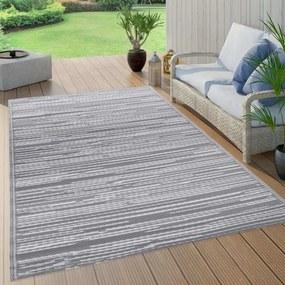 Szürke PP kültéri szőnyeg 160 x 230 cm