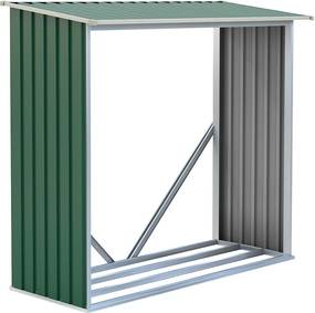 Tüzifa tároló G21 WOH 136 - 182 x 75 cm, zöld