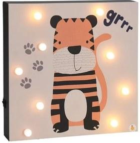 Hatu Tigris fali LED dekoráció, 26 x 4x 26 cm