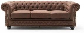 CHESTERFIELD barna mikroszálas kanapé