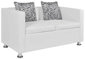 vidaXL fehér 2-személyes műbőr kanapé