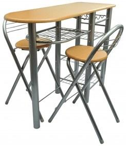 vidaXL Fa konyhai/étkező/bárasztal és szék szett