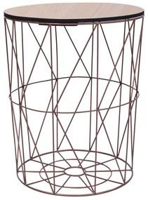 vidaXL rézszínű dohányzóasztal Ø 47 cm