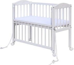 A szülők ágyához csatlakoztatható kiságy BABY Scarlett - fehér  1027 baba -