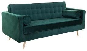 3 személyes bársony kanapé, sötétzöld - WINDSOR