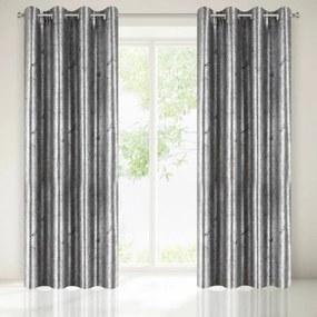 Brass egyszínű sötétítő függöny Ezüst / fekete 140x250 cm