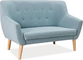 Kétszemélyes kanapé, mentol / bükk, CABLO