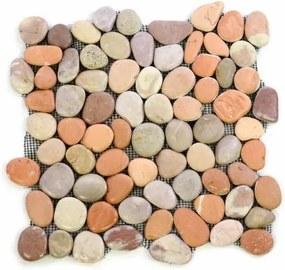 Mozaik burkolat DIVERO® 1db - folyami kavics, terrakotta