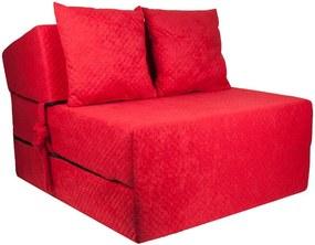 FI Strukturált összehajtható matrac - 200x15x70 cm Szín: Piros