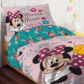 Happy Minnie ágyneműhuzat lányoknak rózsaszín 140x200 cm